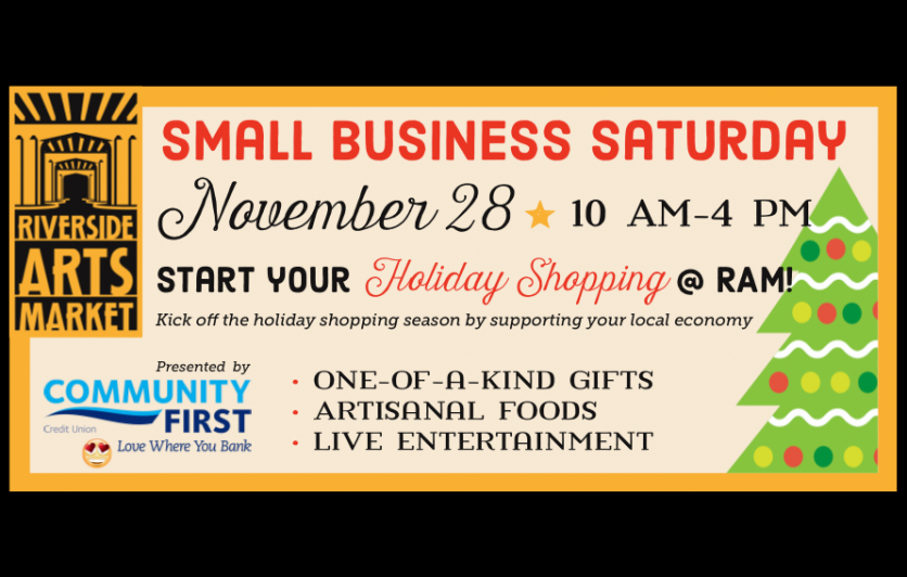 Small Business Saturday at the Riverside Arts Market Poster