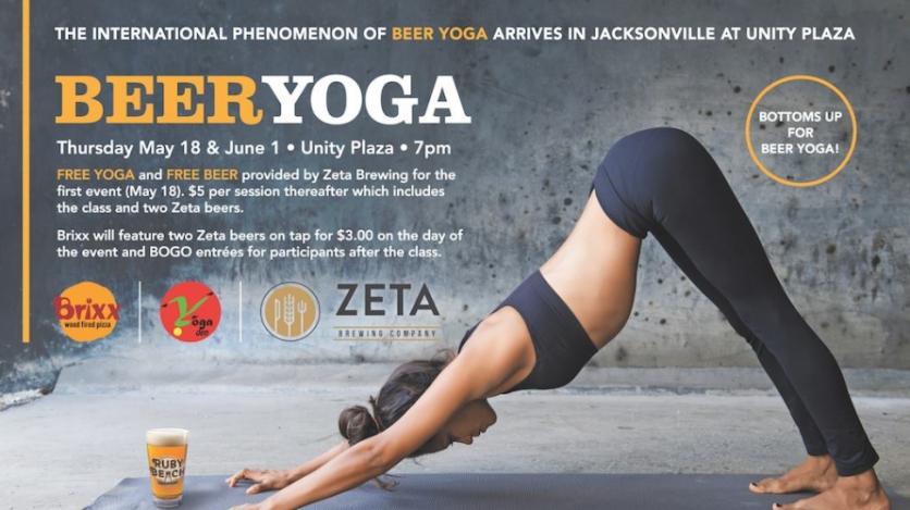 Beer Yoga at Unity Plaza