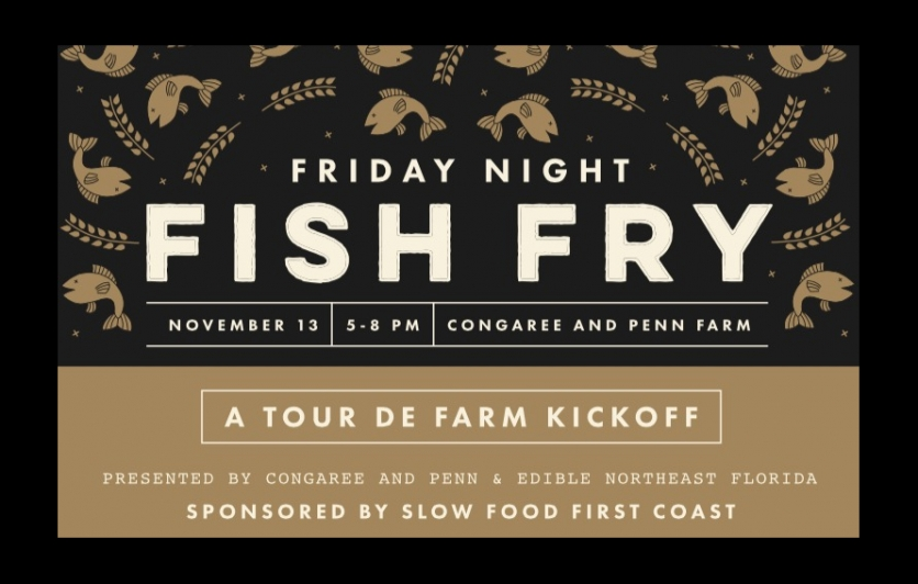 Fish fry at Congaree and Penn Farm to Kick off the Slow food tour de farm 2015