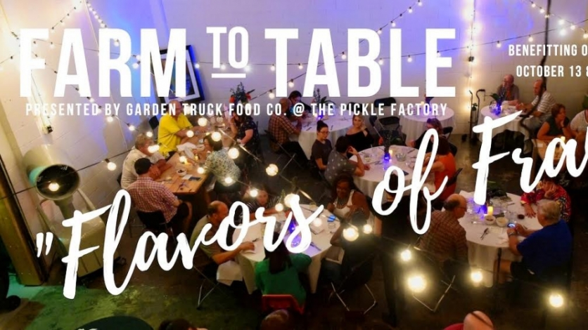 farm to table dinner featuring flavors of france