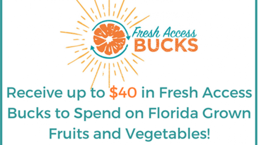SNAP benefits matched up to $40 in Fresh Access Bucks through 2018.