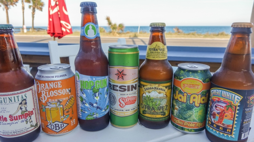 Craft beers at Break Awayz in Flagler Beach