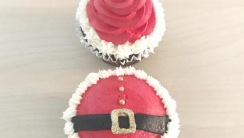 Santa cupcake class