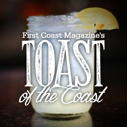 First coast magazine toast of the coast craft cocktail competition graphic
