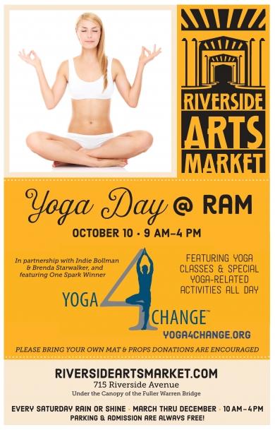Yoga Day at the Riverside Arts Market