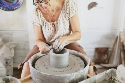 Moultrie Creek Studios making pottery in st. Augustine