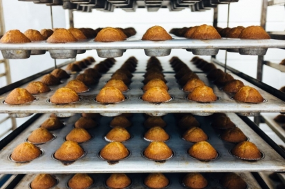 Trays of muffins