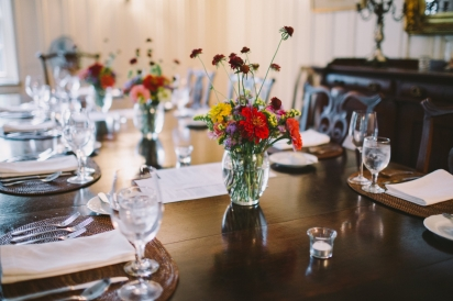 table setting at greyfield inn