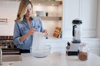 Brooke Brennan making nut milk