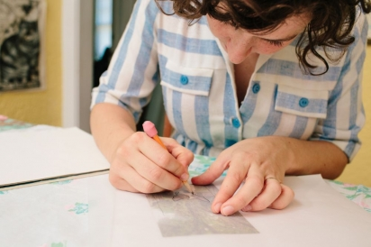 community loaves owner meredith corey disch makes a diy linoleum stamp for edible gifts in jacksonville florida