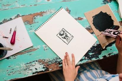 how to make a diy linoleum stamp jacksonville florida