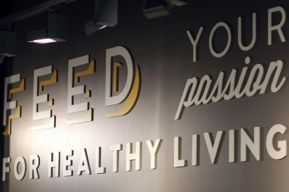 Feed Your Passion for Healthy Living sign at Native Sun