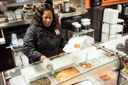 Chef Celestia Mobley at Potter's Soul Food Bistro