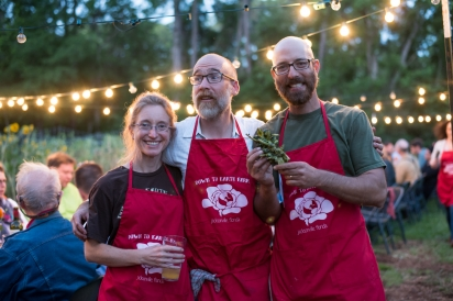 Owners and Chef Emilio at Down to Earth Farm