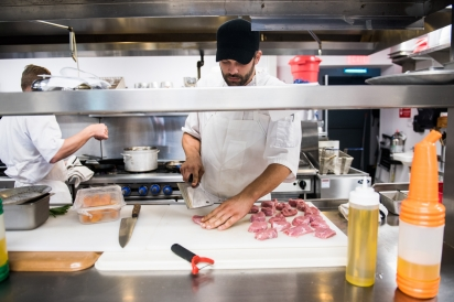 Chef on the Line at Restaurant Doro
