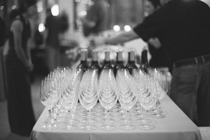 Glasses Black and White at Bella Sera Catering by Liz in Jacksonville Florida