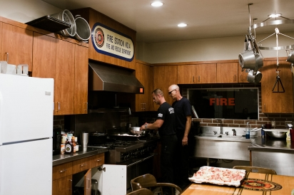 cooking at the firehouse