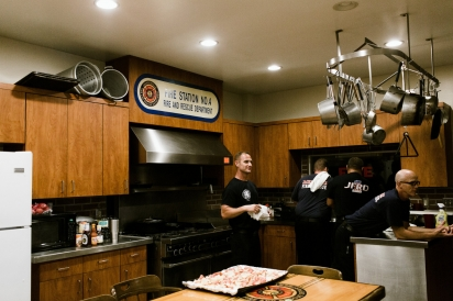 Firefighters at Station 4 Prepping for Dinner