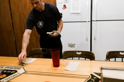 Firefighters Share Cooking and Cleaning Tasks
