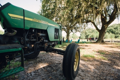 John Deere tractor at Congaree and Penn Farm