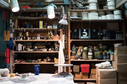 shelves at Westside Studio