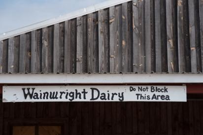 Wainwright Dairy Farm Sign