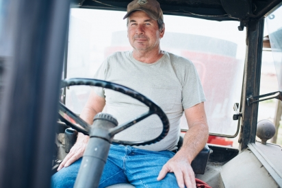 Wainwright on Tractor