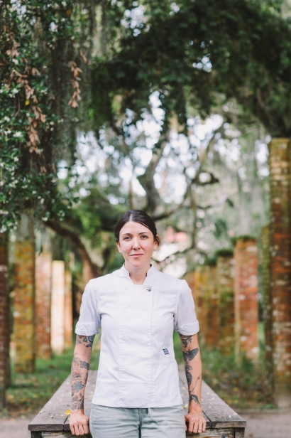Chef Whitney Otawka of The Greyfield Inn