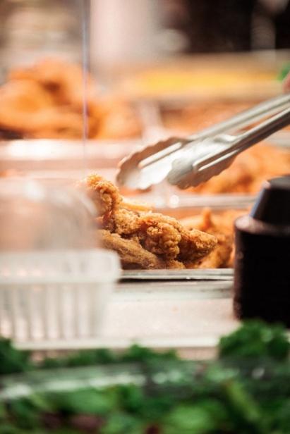 Fried chicken at  Potter's Soul Food Bistro
