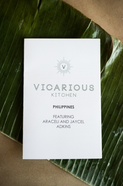 vicarious kitchen flyer on a banana leaf