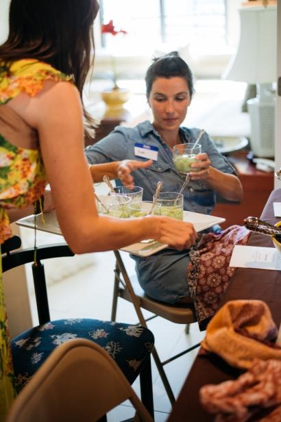 serving avocado milkshakes to guests