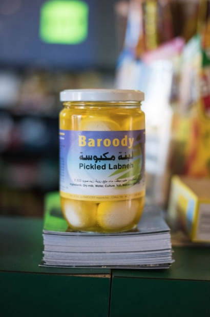Pickled Labneh at a middle eastern market in jacksonville florida