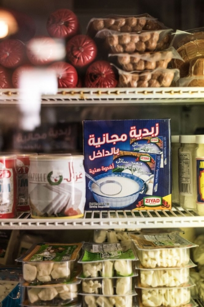 refrigerated middle eastern foods at a kourosh middle eastern market in jacksonville florida