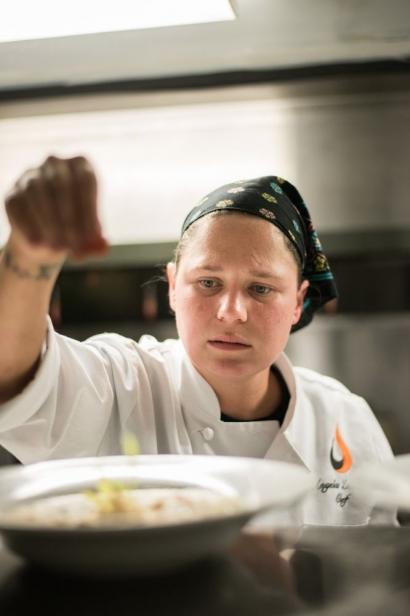 Angie Ziebarth at Balefire Brasserie