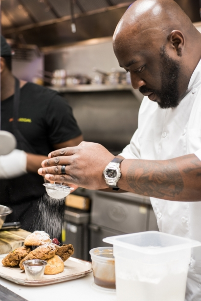 Chef Kenny Gilbert in his kitchen