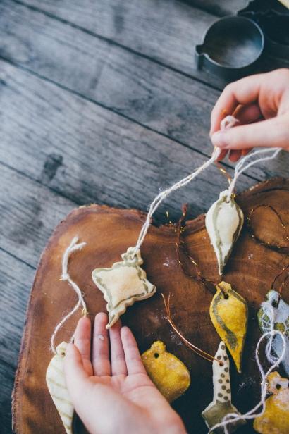 Salt dough ornaments with natural dyes