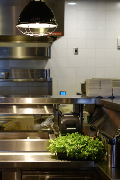 Fresh herbs delivered to the kitchen at moxie florida in jacksonville