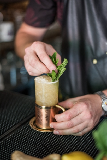 nick hogan makes a cocktail at odd birds st. augustine
