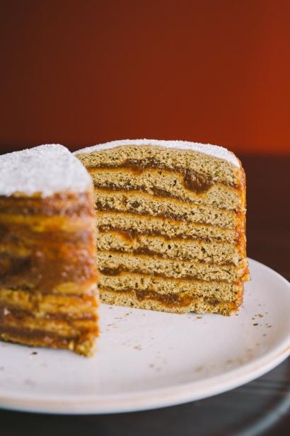 stack cake sliced