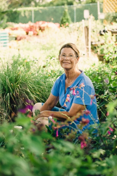 Kim Robertson a beekeeper and expert gardener at Southern Horticulture in St. Augustine Florida