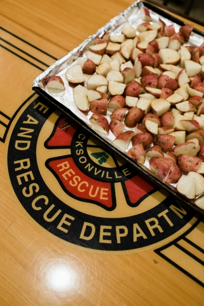food at the firehouse