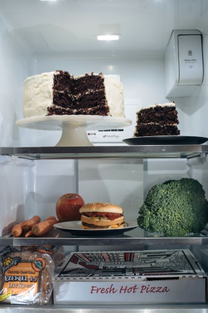 Food in the refrigerator