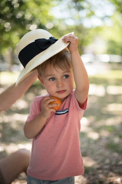 boy at picnic