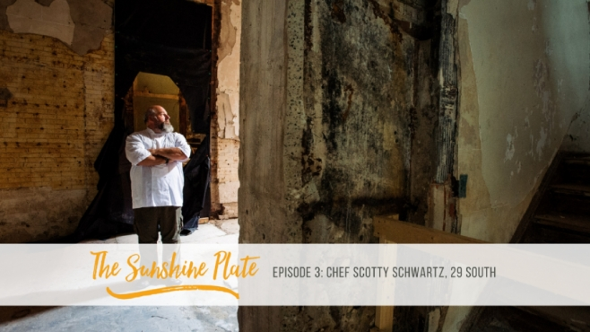 Chef Scotty Schwartz in building downtown jacksonville