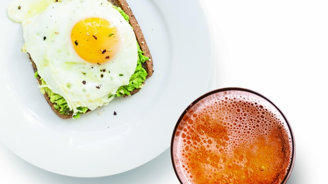 Beer and egg toast