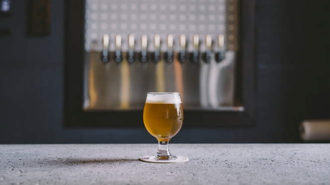 IPA Beer on a counter