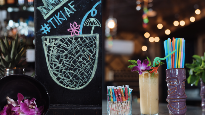 Tiki Bar Cocktails at the Flask and Cannon