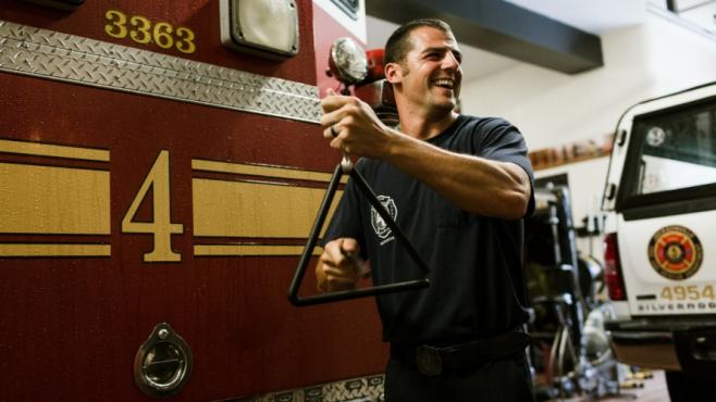 Firefighter Zach Washington