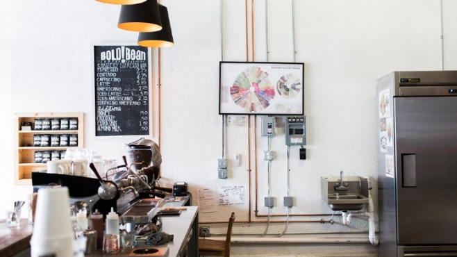 Bold Bean Coffee's Roastery in Murray Hill