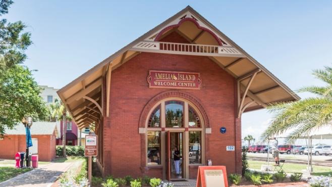 Amelia Island welcome center depot in fernandina beach florida